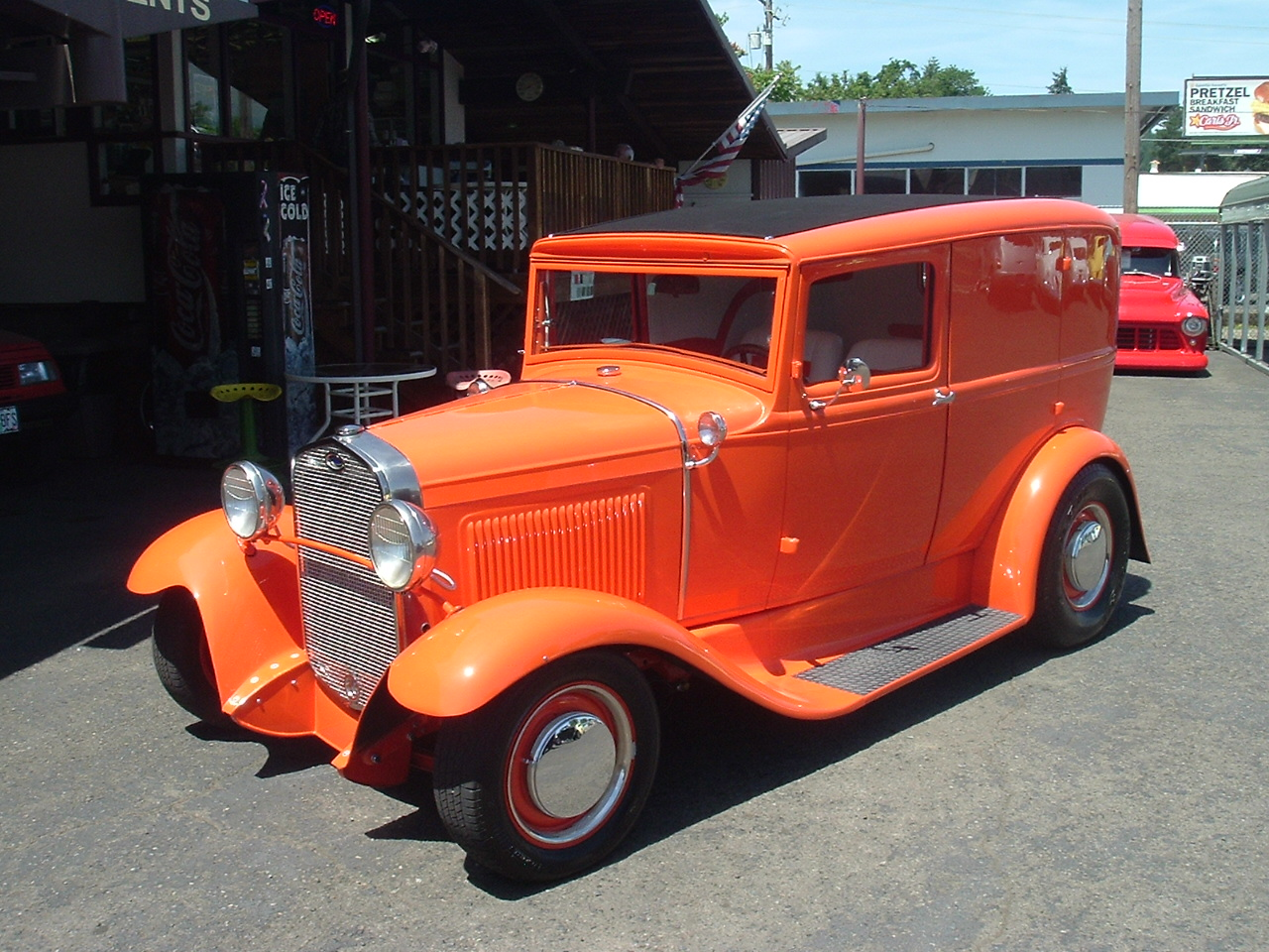 Hamilton Auto Sales Street Rod Fuse Box Under Hood 1931 Ford Model A All Steel Slant Window Murry Body Custom 4dr Built To Look Like Sedan Delivery Rebuilt 302 V 8 With 1970 Cobra Heads And