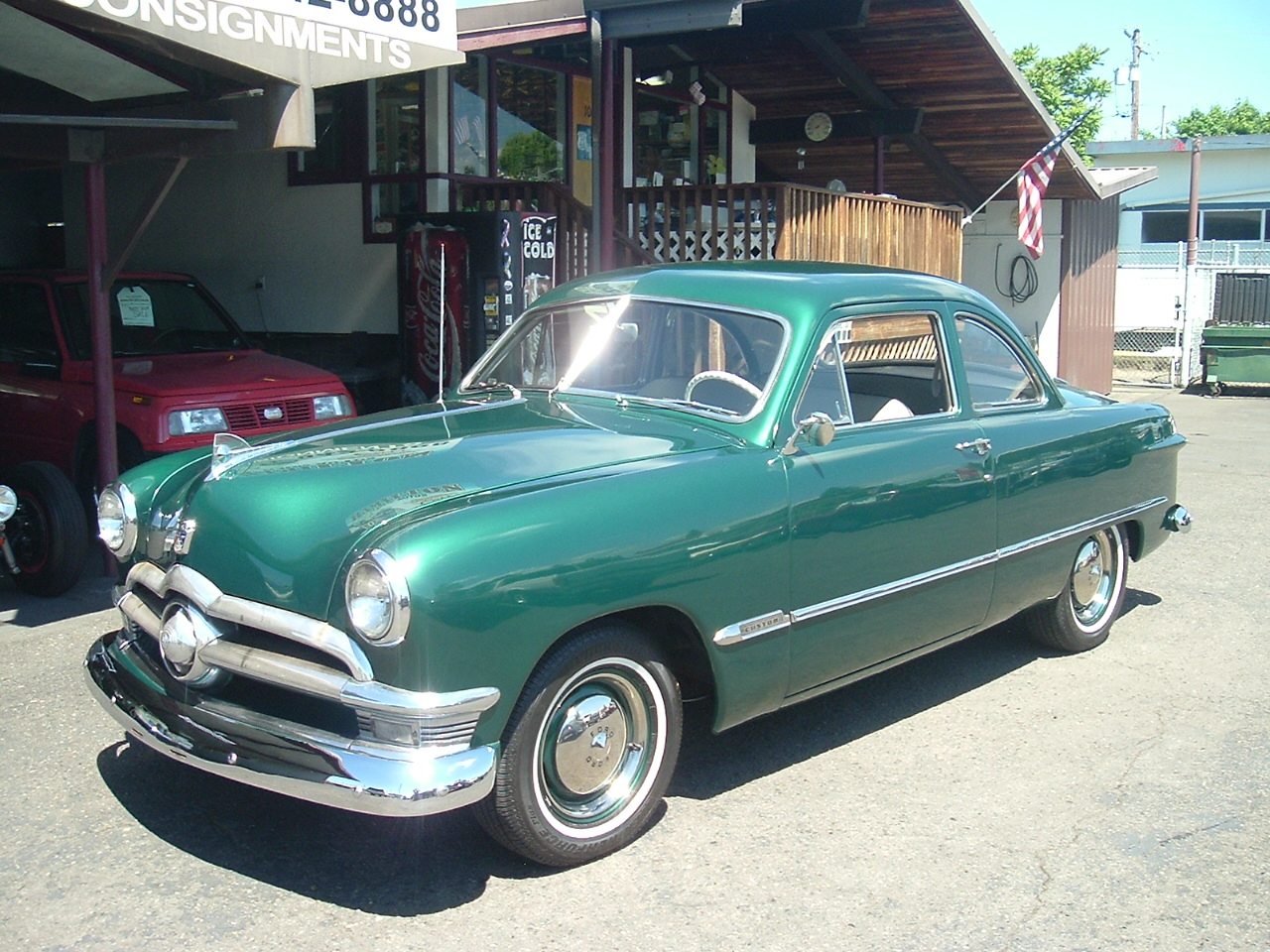 Hamilton Auto Sales 1949 Ford Car Gas Tank 1950 Club Coupe Flat Head V 8 3spd Manual Transmission Restored Approximately 12 Years Ago And Looks Fresh Body Paint Excellent Solid With