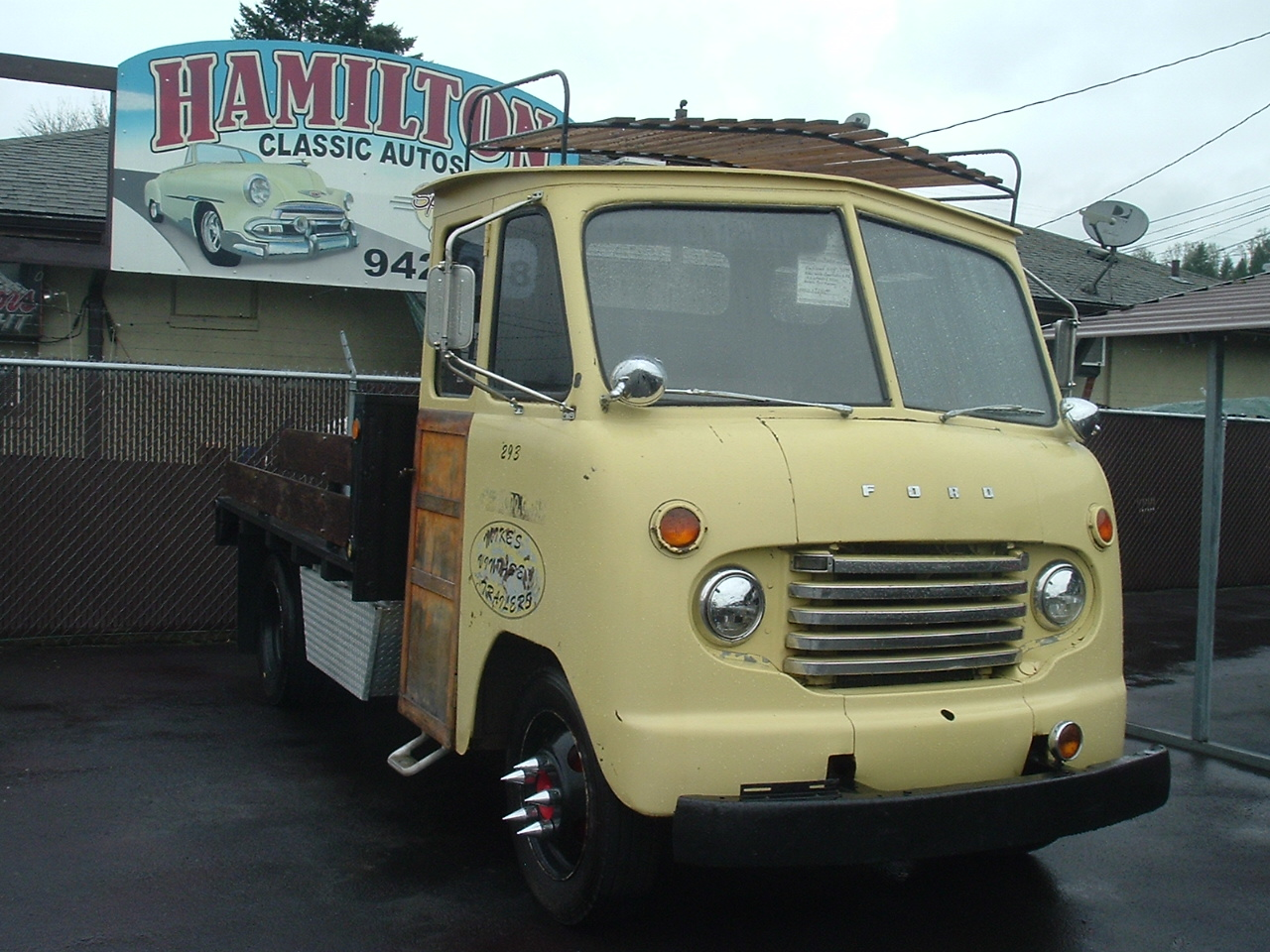 Hamilton Auto Sales 1951 1952 Ford Hot Rod Truck Pics 1950 F 5 Parcel Delivery Converted To Flatbed Flat Head 6cyl 226 Ci 3 Spd Transmission Rear End Ratio Is 583 And Will Travel At Freeway Speeds